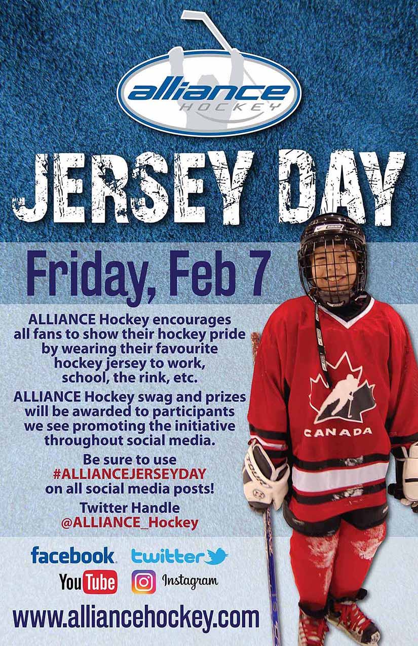 ALLIANCE Hockey Jersey Day